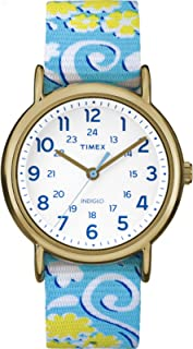 Timex Women's Weekender Reversible Floral |Blue| Casual Watch TW2P90100