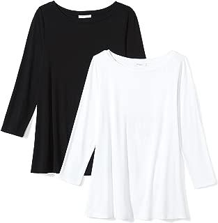 Amazon Brand - Daily Ritual Women's Jersey 3/4-Sleeve Bateau-Neck Swing T-Shirt