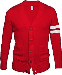 Hip Hop 50's Shop - Mens 1950s Letterman Cardigan Sweater
