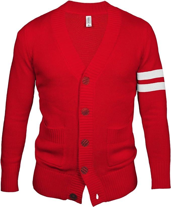 Men's Vintage Sweaters, Retro Jumpers 1920s to 1980s Hip Hop 50s Shop - Mens 1950s Letterman Cardigan Sweater  AT vintagedancer.com
