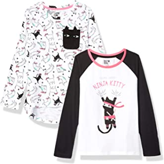 Pacco da 2 Spotted Zebra 2-Pack Long-Sleeve Novelty T-Shirts Bambina