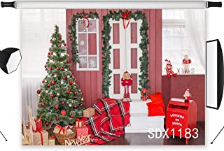 LB 7x5ft Christmas Tree Gifts Photography Backdrop Santa Claus Letter Box Indoor Holiday Decorations Photo Background Studio Prop Customized SDX1183