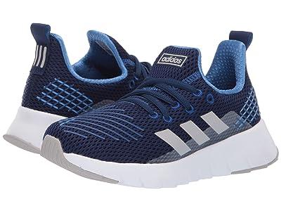 adidas Kids Asweego Run (Little Kid/Big Kid) (Dark Blue/Grey Two/Collegiate Royal) Kid