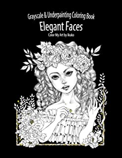 elegant faces coloring book