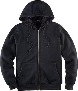 Sponsored Ad - Men's Heavyweight Hooded Fleece Sweatshirt,Sherpa Lined Full Zip Hoodie Sweater Jackets