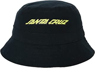 Santa Cruz Boys Melting Strip Bucket Hat Cotton Black