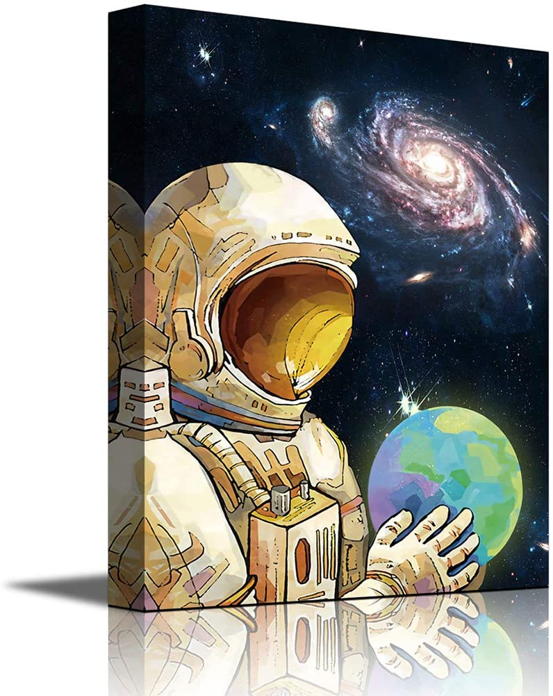 C Poster Home Decor Wall Art Spaceship Flying In The Space Art//Canvas Print