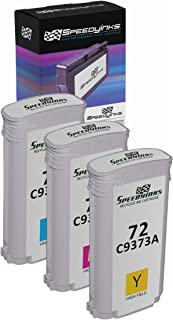 Speedy Inks - 3PK Remanufactured Replacement for HP 72 C9371A C9372A C9373A: HY CMY for use in DesignJet T1100 T1100ps T1120 T1120 SD-MFP T1120ps T1200 T1200ps T2300 T2300 Postscript T610 T620 T770