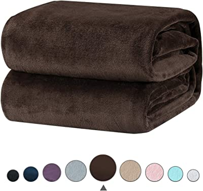 Vanilla 61A-24474 Bedford Home Floral Etched Fleece Blanket with Sherpa King