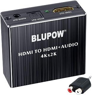 BLUPOW 4K30Hz HDMI音声分離器 (光デジタル・3.5mmステレオ音声出力)デジタルオーディオ・サウンド分離 音声分配器 2160P・HDCP1.4・3D対応 PS4Slim・Fire TV・STBなど対応 VA83