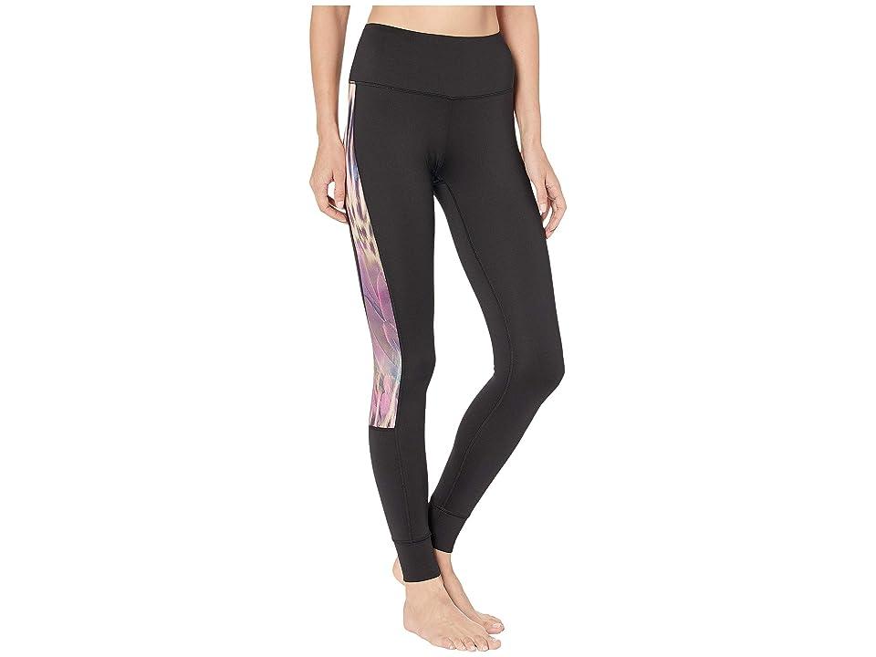 Bebe Sport Sport Logo Jogger Leggings (Black/Leopard Print) Women