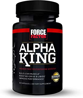 Force Factor Alpha King Testosterone Booster, Increase Passion and Drive, Build Lean Muscle, and Improve Performance - 30 ...