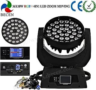 Sin impuestos, 36x10 w rgbw 4in1 led zoom luz de la cabeza móvil dmx dj iluminación de la etapa para el partido de discoteca lámpara de Navidad