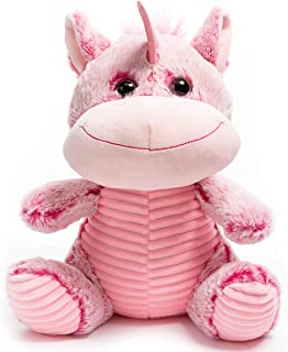 HollyHOME Plush Unicorn Soft Stuffed Animal Unicorn Cuddly Toy Gifts for Kids Pink 12 Inch