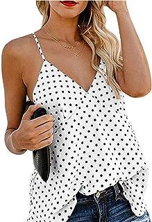 32853c2e1ed Camiseta Tirantes Mujer Blusa Top Sin Mangas Cami Tank Tops De Gasa Casual para  Mujeres
