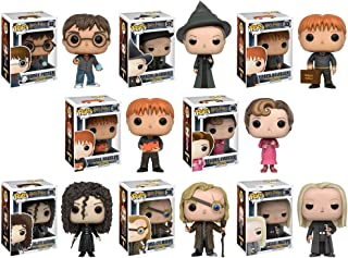 Pop!: Harry Potter - Harry Potter, Minerva McGonagall, Lucius Malfoy, Mad-Eye Moody, George Wesley, Fred Weasley, Bellatrix and Umbridge Vinyl Figures! Set of 8