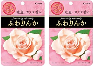 Japanese Fuwarinka Kracie Rose Candy/Chewing Gum, 2 Pack (Beauty Rose Candy)