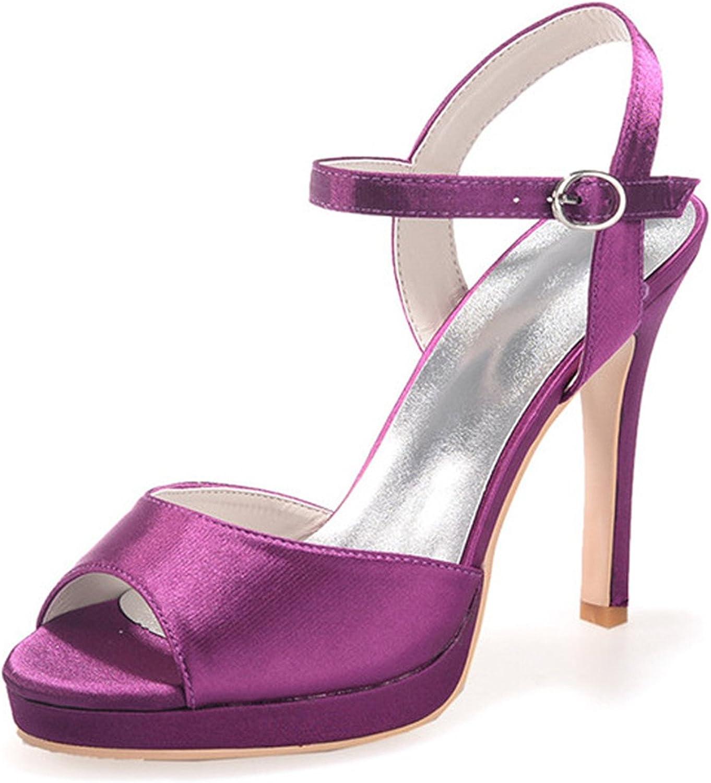 Fanciest Women's Bridal Wedding Party Evening Sandals Peep-Toe High Heel Pump shoes 5915-07