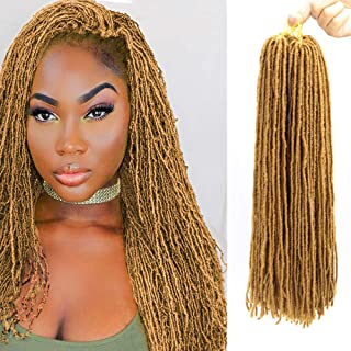6Packs/Lot 18 Inch Micro Crochet Hair Braids Slender Straight Goddess Faux Locs Crochet Hair Synthetic Sister Locs Crochet Hair Braids Synthetic Braiding Hair Extensions For Women(27#)