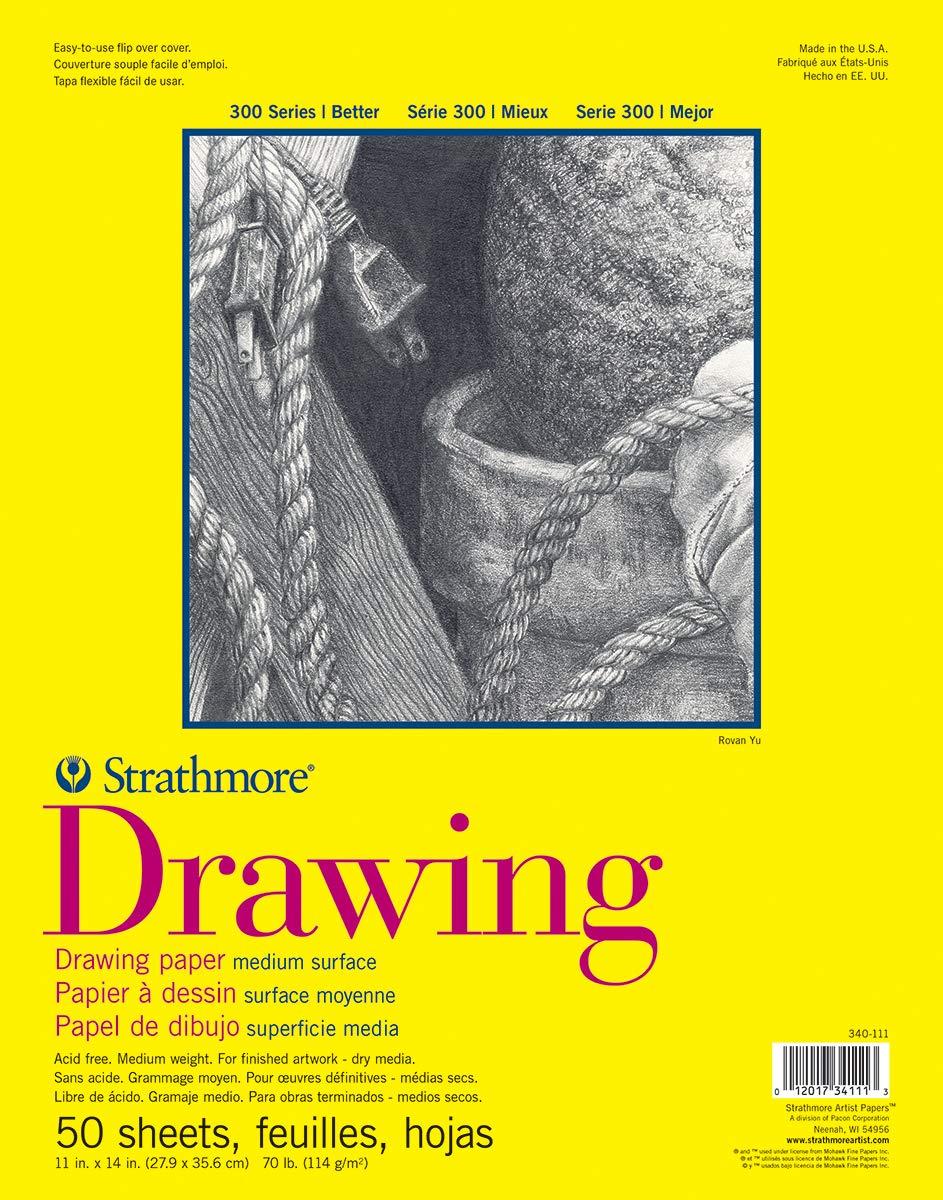 50 Hojas De Dibujo Strathmore 300 Series 27.9x35.6cm