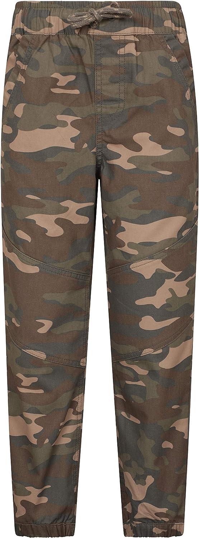 Mountain Warehouse Camo Kids Pants 100/% Cotton Childrens Trousers