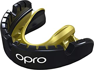 OPRO Gold Level Mouthguard for Braces | Gum Shield for Rugby, Basketball, Hockey, Lacrosse, and Combat Sports - 18 Month Dental Warranty (for Ages 7+)