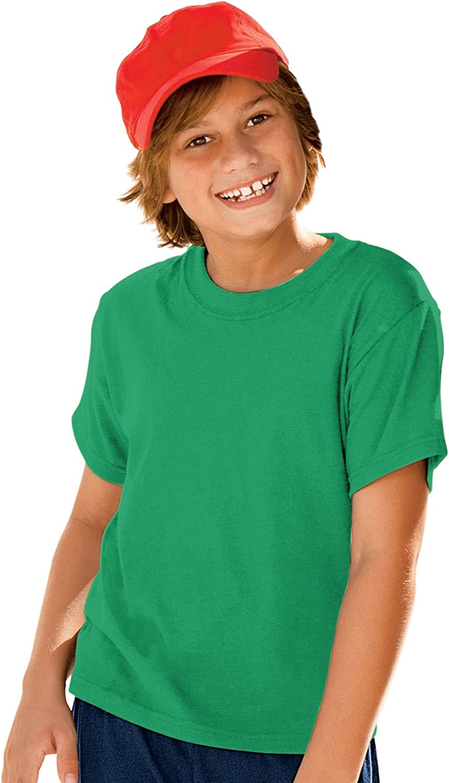 Hanes 5.2 oz Youth COMFORTSOFT HEAVYWEIGHT 50/50 T-Shirt, M-Kelly Green