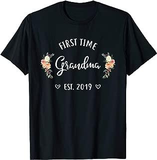 First Time Grandma Est 2019 New Grandma To Be Shirt
