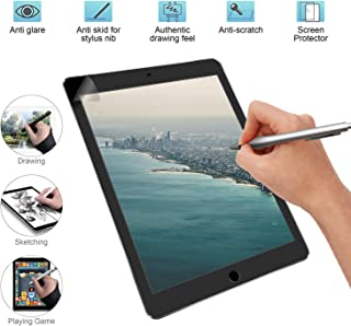 Paper Like Screen Protector Drawing Texture Paper Matte PET Film for iPad 9.7, Air 10.5, Pro 11, 12.9, Compatible with Pencil and Face ID (12.9 inch 2015-2017)