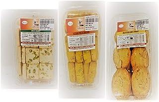 Combo Pack of Kesar Pista Butter BADAM Cookies (Pack of 3)