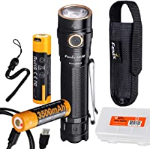 Fenix LD30 1600 Lumen Everyday Carry Rechargeable Dual Fuel LED Flashlight with Extra F3500U Battery and LumenTac Case