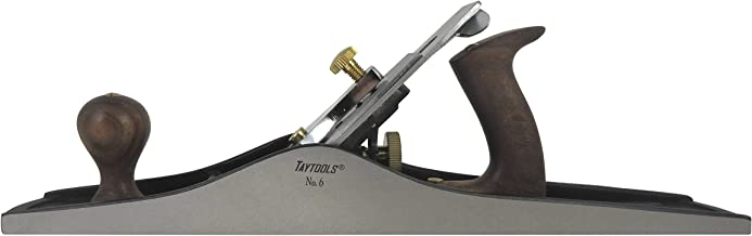 Taytools 469591 Fore Bench Hand Plane #6, 18 Inch Sole, Ductile Cast Body, Lapped Sides and Bottom, Blade RHC 55-60, Sapele Handle and Tote