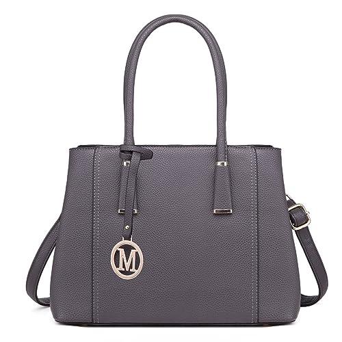 400b968b6f Miss Lulu Leather Look V-Shape Shoulder Handbag Elegant Design Top Handle  Fashion Handbags for