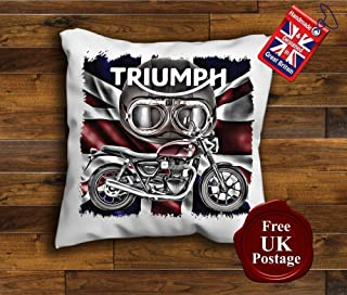 Triumph Spitfire Cushion Cover Mod Target Poppy Phone Box Handmade 10 to 20 inch See Description Union Jack Choice of sizes