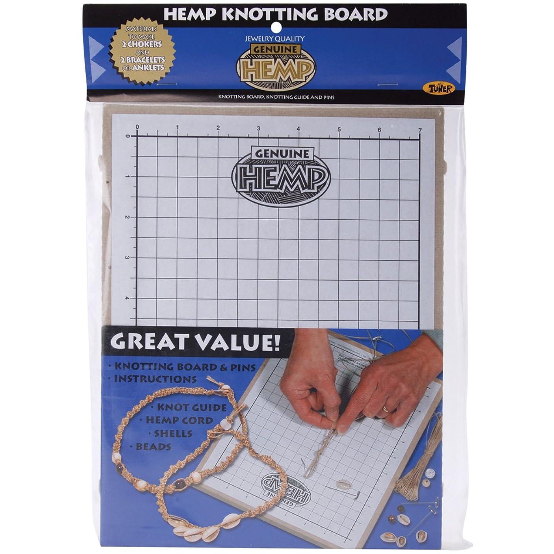 Toner Hemp Knotting Board, 11 by 8.625 by 0.5-Inch