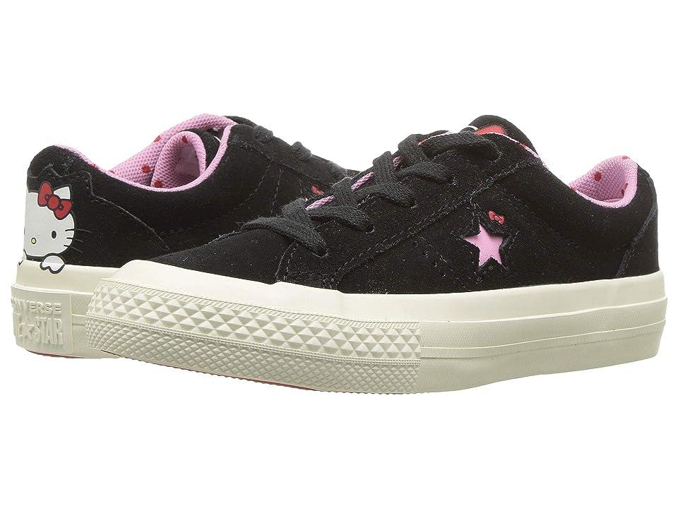 Converse Kids Hello Kitty(r) One Star Ox (Little Kid) (Black) Girl