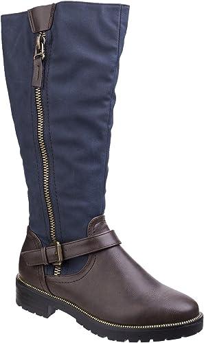 Divaz femmes Ladies Divaz Manson Contrast Knee High Zip Up bottes