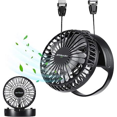 【超軽量&リズム風モード搭載】KEYNICE 首かけ扇風機 携帯扇風機 ミニ扇風機ハンズフリー 折り畳み式首掛け&卓上&手持ちUSB扇風機 ネックストラップ付き ハンディ扇風機 ミニ 小型ファン 静音 風量3段階調節 長時間連続使用 熱中症対策 ブラック
