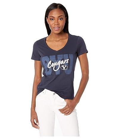 Champion College BYU Cougars University V-Neck Tee (Navy) Women