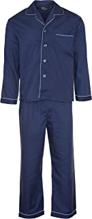 Champion Men's Oxford Plain Design Polycotton Long Pyjama Set