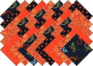 Orange Black Blender Charm Pack 40 Precut 5-inch Quilting Fabric Squares