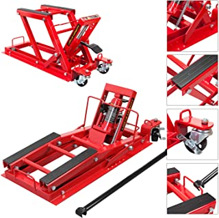 BIG RED T64017 Torin Hydraulic Powersports Lift Jack (Motorcycle, ATV, UTV, Snowmobile): 3/4 Ton (1,500 lb) Capacity, Red