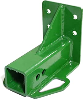 Titan Attachments Rear Trailer Hitch Receiver John Deere Gator 4x2 6x4 Old Style Bolt On Green