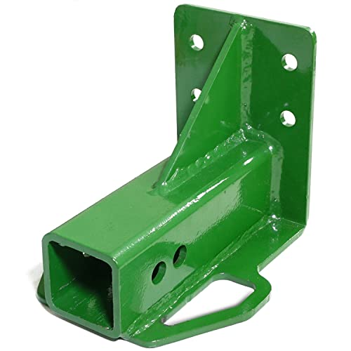cda110ccc9813 Titan Attachments Rear Trailer Hitch Receiver John Deere Gator 4x2 6x4 Old  Style Bolt On Green