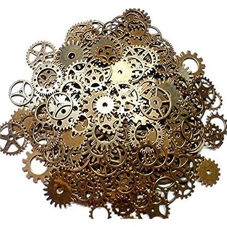 DAHI Steampunk Zahnr/äder 150 Gramm Metall Anh/änger Zahnraeder Steampunk f/ür Schmuck Basteln Mehrfarbig
