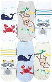 TupTam children's unisex socks, colourful patterned pack of 6