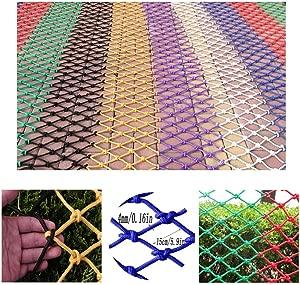 HWJ Child Safety Stair Protection Net  Anti-fall Net Pet Anti-climbing Net Bird Rope Net Fence Net Cargo Trailer Net Isolation Rope Net Nylon Decorative Net  Size 2x2m