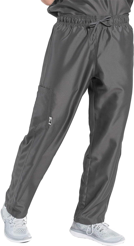 TiScrubs Men's Relaxed Fit Cargo Pocket Scrub Pants