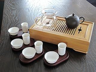 中国茶器 竹茶盤、組杯4のセット