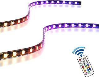 EASYDIY アドレス指定可能なRGB LEDストリップ リモコン付き+ RGBスプリッターケーブル, マグネット付きRGB LEDストリップ, PCコンピューターケース用(ASUS Aura Sync およびMSI Mystic Light...